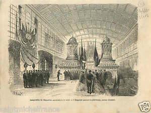 Exposition-Universelle-de-Paris-Inauguration-Napoleon-III-GRAVURE-OLD-PRINT-1867