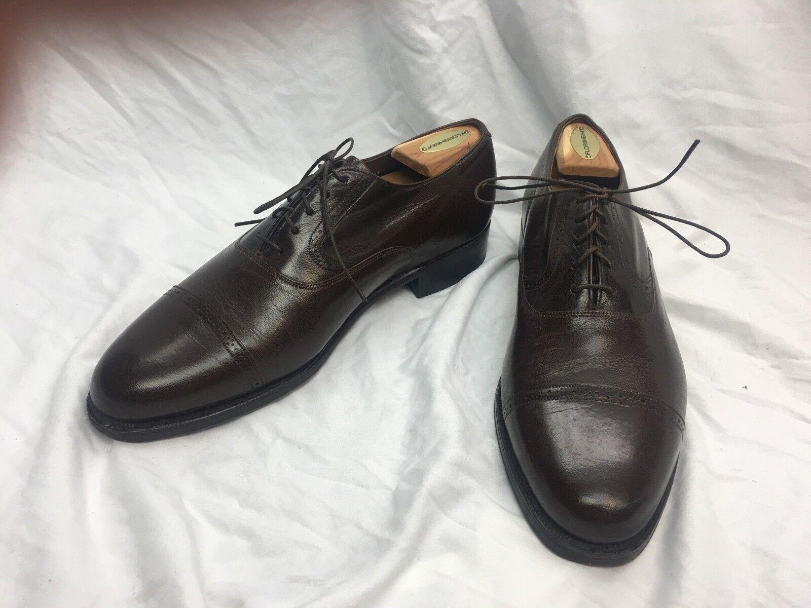 * Florsheim Imperial * Cap-Toe Oxford Shoes Brown Sz. 9.5D Excellent