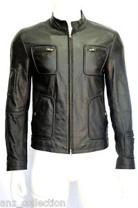 Leather Designer Black Real Lambskin Jacket Fashion Gents Classic Shane Men's qw4tO