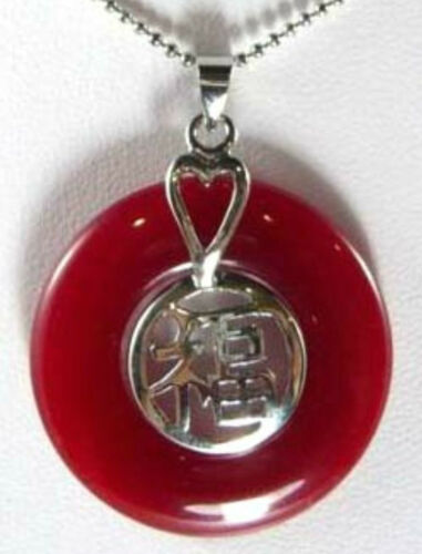 charm green//purple//red//blue//red circle jade bless happiness 18KGP pendant