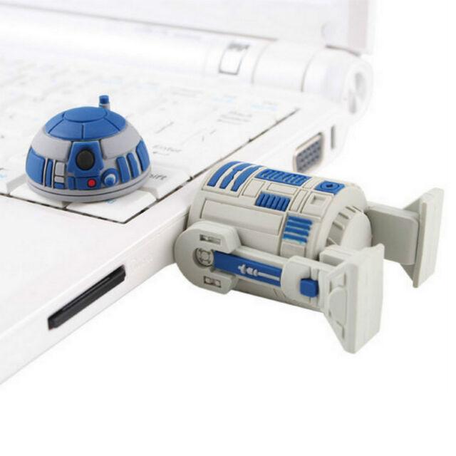 Cool Star Wars R2D2 Robot Novelty USB Flash Drive 4GB Storage Memory Stick New