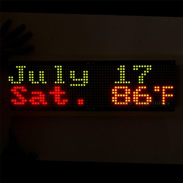 3216 32X16 Bicolor Red & Green LED 5mm Dot Matrix Information Display Board