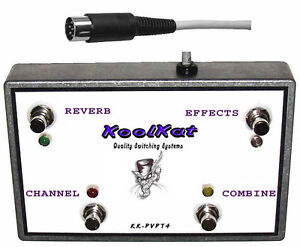 KoolKat-039-s-4-Button-Footswitch-for-Peavey-Classic-212-4-Button