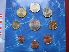 Finland Finnish Suomi 2004 Official 8 UNC Coin Set Cent - 2 Euro + token folder