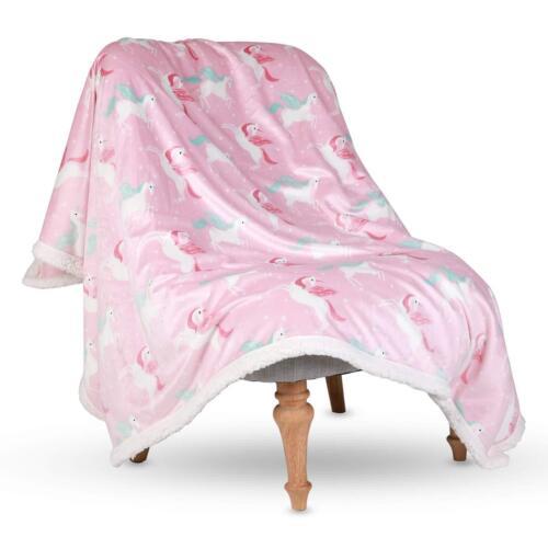 "Sherpa Throw Blanket Super Soft Warm Luxurious Fleece Blanket 50/""x60/"" Pink"