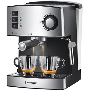Macchina da caffè espresso macinato in polvere cappuccino 1 o 2 tazze 850W 15bar