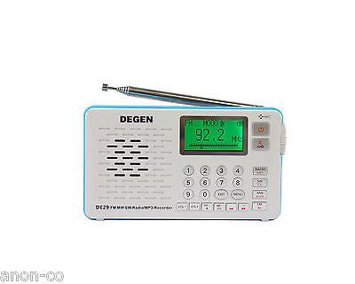 DEGEN DE29 AM/FM/SW DSP Radio MP3 & Direct Radio Recording  ** NO BATTERY **