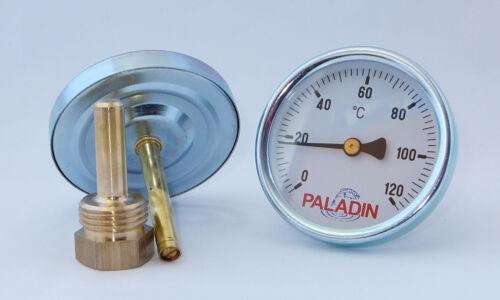 VA Mutter 120 °C Räucher-Thermometer einstellbar! Analog Räucherofen
