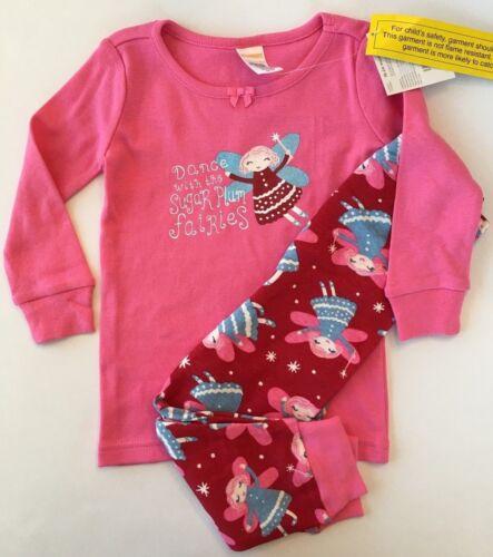 Gymboree Girls Christmas Pajamas Sugar Plum Fairy Gymmies NEW 18 24 4 5