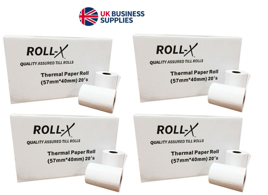 20 57mm x 80mm 57x80mm Thermal Paper Cash Register Till Printer Receipt Rolls