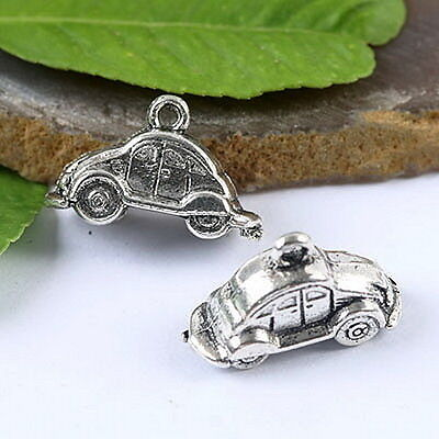 16pcs tibetan  silver tone 2sided  lady hand bad design charms H0910