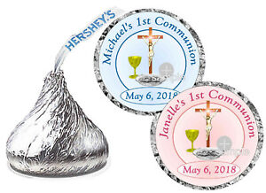 108-FIRST-1st-HOLY-COMMUNION-PARTY-FAVORS-HERSHEY-KISS-KISSES-LABELS