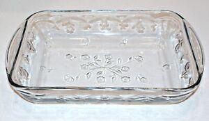 Anchor-Hocking-SAVANNAH-Clear-Floral-Glass-Lasagna-Pan-Baking-Casserole-9x13