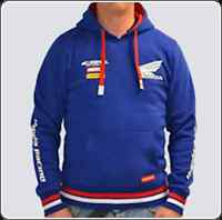 Official Honda Racing Blue Pull Over Hoddie