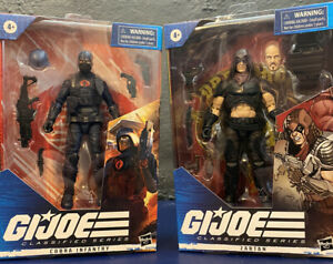 GI Joe Classified Lot Cobra Infantry And Zartan Hasbro
