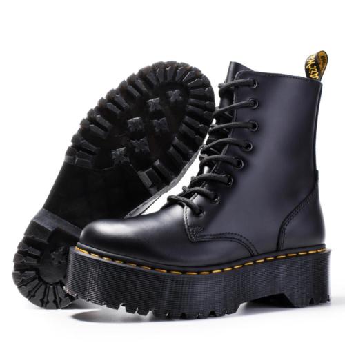 Martens Jadon boots noires compensées femme en cuir S Femmes nous Eye UK tous taille 40  | eBay