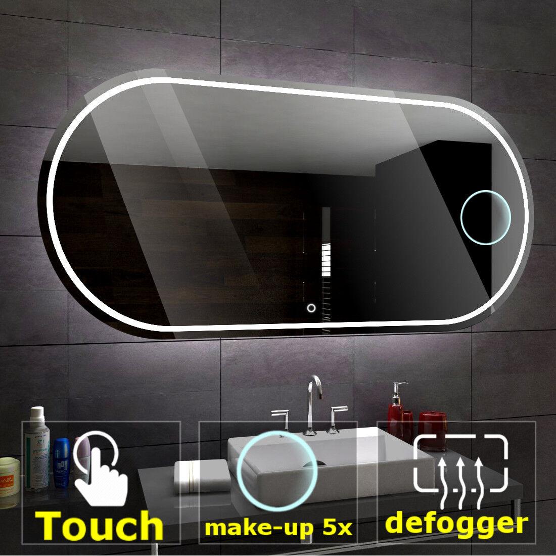 Palermo éclairé del Miroir salle de bain LED interrupteurs maquillage