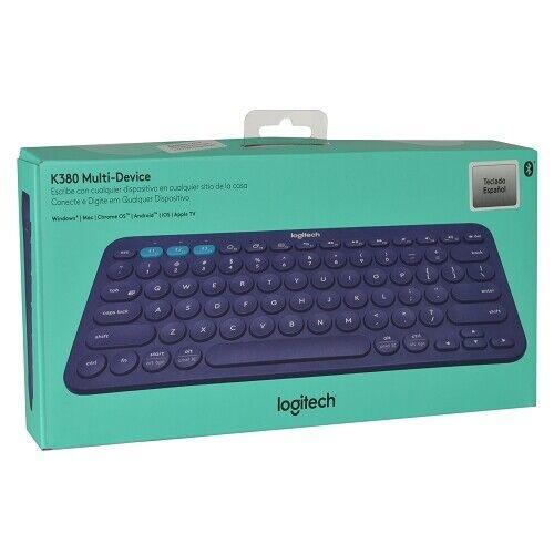 Logitech K380 79 Key Bluetooth Wireless Multi-device Spanish Keyboard - Blue
