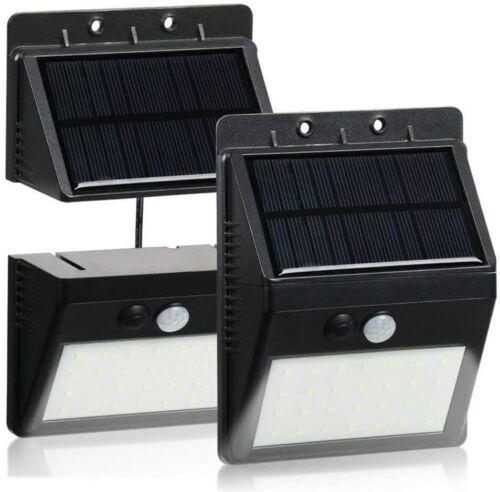 28LED Solarleuchte Wandleuchte Solarstrahler Flutlicht Bewegungsmelder Trennbar