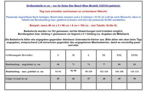 UNISEX BADE SHORT SHORTS BERMUDA BADEHOSE 1234-16 siehe Tabelle in S bis 3XL
