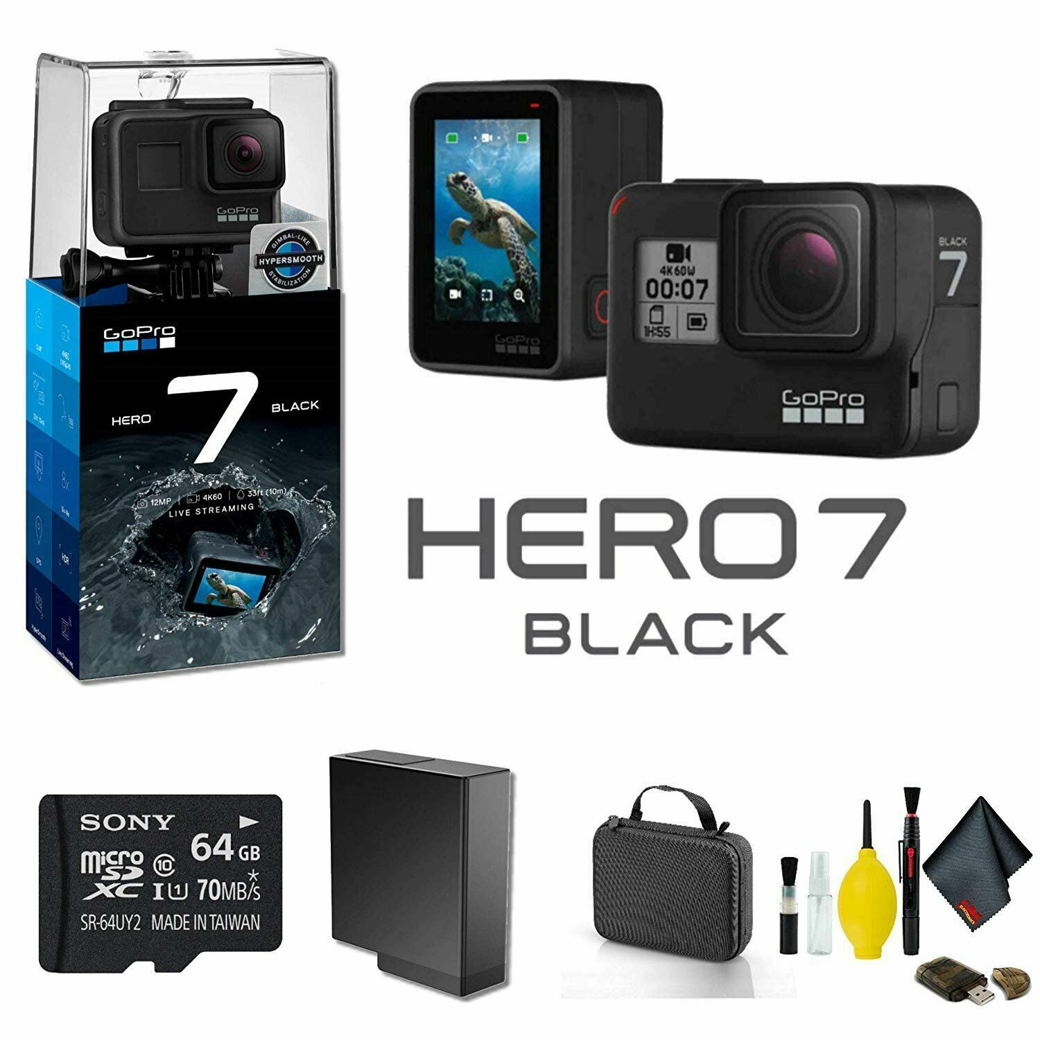 GoPro HERO7 Black Action Camera Starter Bundle 01