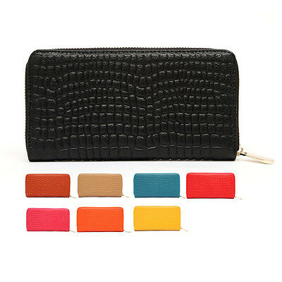 Stone Pattern Genuine leather Second Layer Cowhide Women Zipper Coin Cash wallet