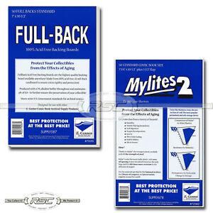 50-Full-Back-amp-Mylites-2-Standard-Mylar-Comic-Bags-amp-42pt-Boards-by-E-Gerber