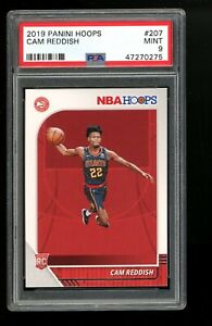 2019 Panini Hoops #207 Cam Reddish Atlanta Hawks PSA 9 MINT RC Rookie Card