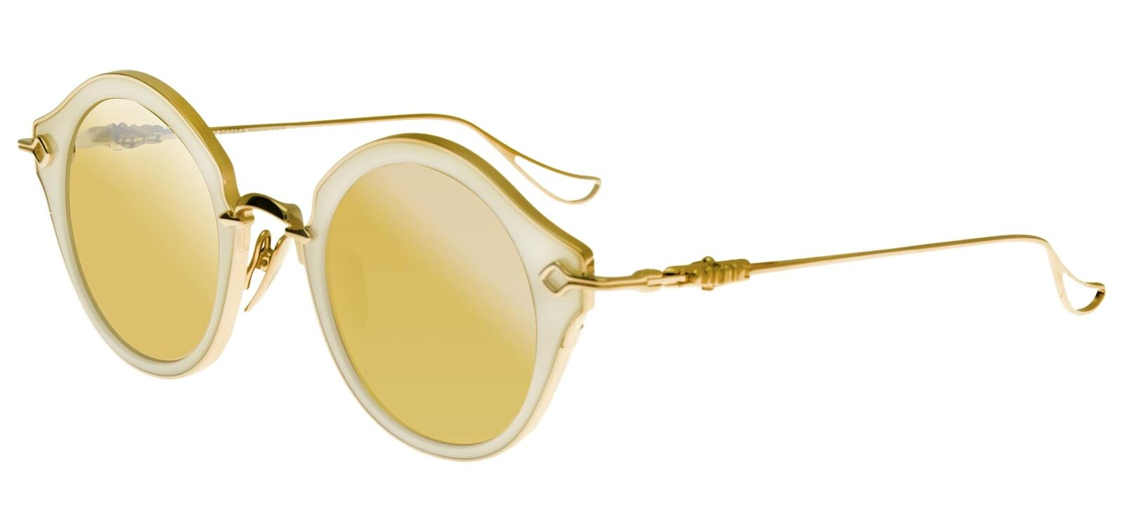 Chrome Hearts BELLA Pearled White Rose Gold/Gold 45/24/133 women Sunglasses