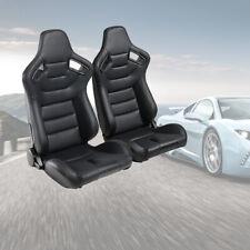 2pcs Racing Seats Universal Pvc Leather Bucket Seats Sport Pair Adjustable Seats Fits Toyota Celica