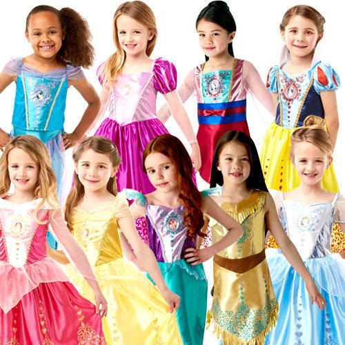 Disney Gem Princess Kids Fancy Dress Disney World Book Day Girls Childs Costumes