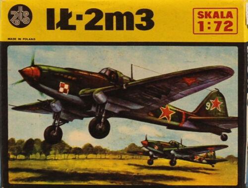 ZTS Plastyk 1:72 ILyushin IL-2M3 Russian WWII Fighter Plastic Model Kit #S-03U