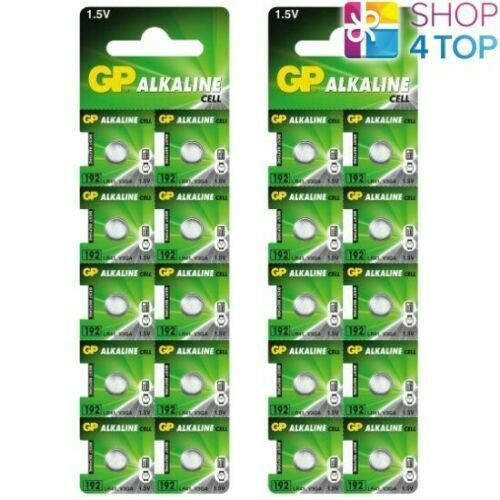 20 Gp Alkaline Cell LR41 192 Batteries G3 1.5V Coin Cell Button Exp 2023 New