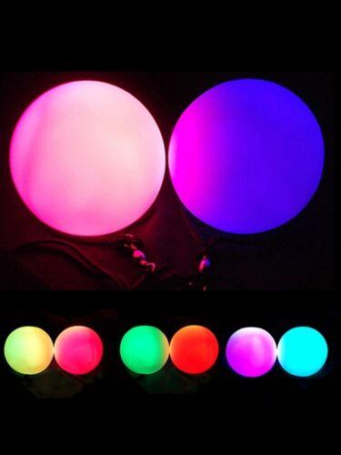 leucht Kugel LED Poi Set Bauchtanz super weich,mehrfarbig Poi Schleiertanz