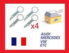 4 x Llaves de Extraccion para desmontar radio AUDI A2, A3, A4, A6, A8,TT