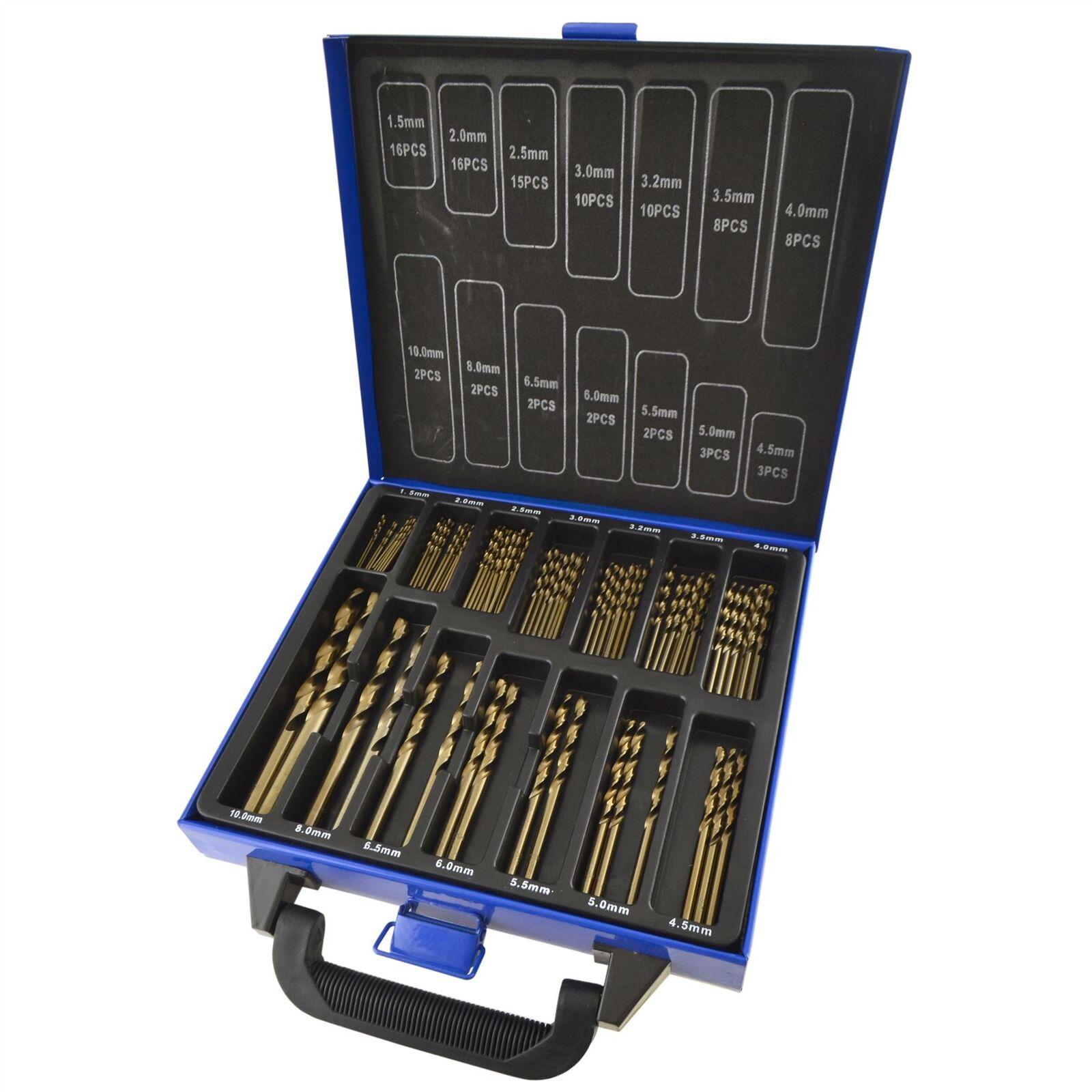 99PC Cobalto brocas M35 Métrica de Acero Inoxidable HSSCO 135 grados 1.510mm