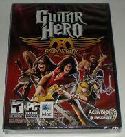 Guitar Hero Aerosmith Activision Pc Mac Dvd-rom Teen Game Factory Sealed