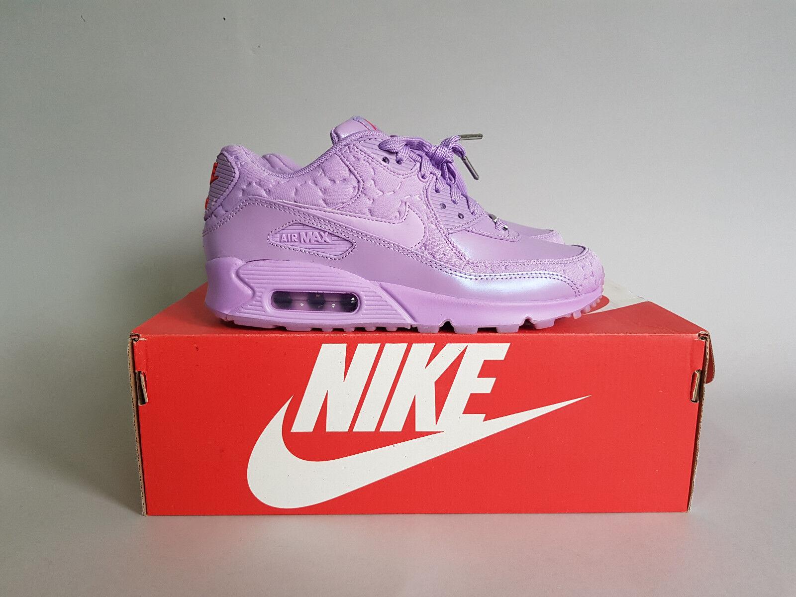 Nike WMNS AIR MAX 90 90 MAX QS Viola/Fuchisa Glow NUOVO CON SCATOLA UK4/US6.5/EU37.5 813150-500 6ef148