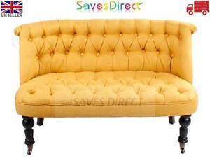 Sleek-Modern-Yellow-2-Seater-Tuffed-back-Sofa-Chair-Office-Home-New-7433-T2