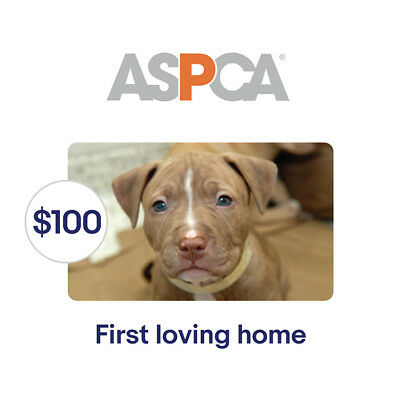 ASPCA $100 Their First Loving Home Symbolic Charitable Donation