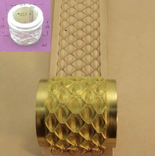 #X510 Rope Basketweave Stamp Leather Stamping Tool Craft Japan