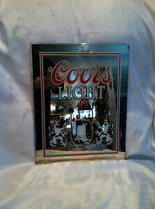 Vintage 1983 Coors Light Classic Bar Beer Advertising Sign