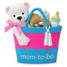 Mom To Be 2016 Hallmark Ornament Family Baby Boy Girl Diaper Bag Bottle Rattle
