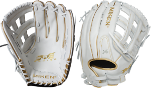 "Gold 2020 Miken PRO140-WG 14/"" Pro Series Gold Slowpitch Softball Glove White"