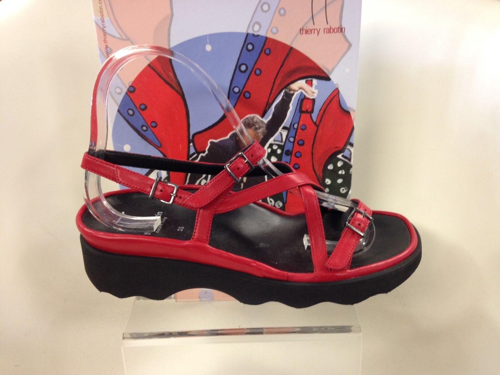 Thierry Rabotin Ondulata Fiamma Rosso Comfort Sandali Misure da Donna Donna Donna 36-42  542109