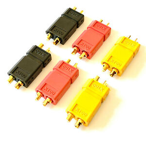 12-Stueck-6-Paar-XT60-Goldstecker-Lipo-Akku-Stecker-Buchse-Schwarz-Rot-Gelb-RC