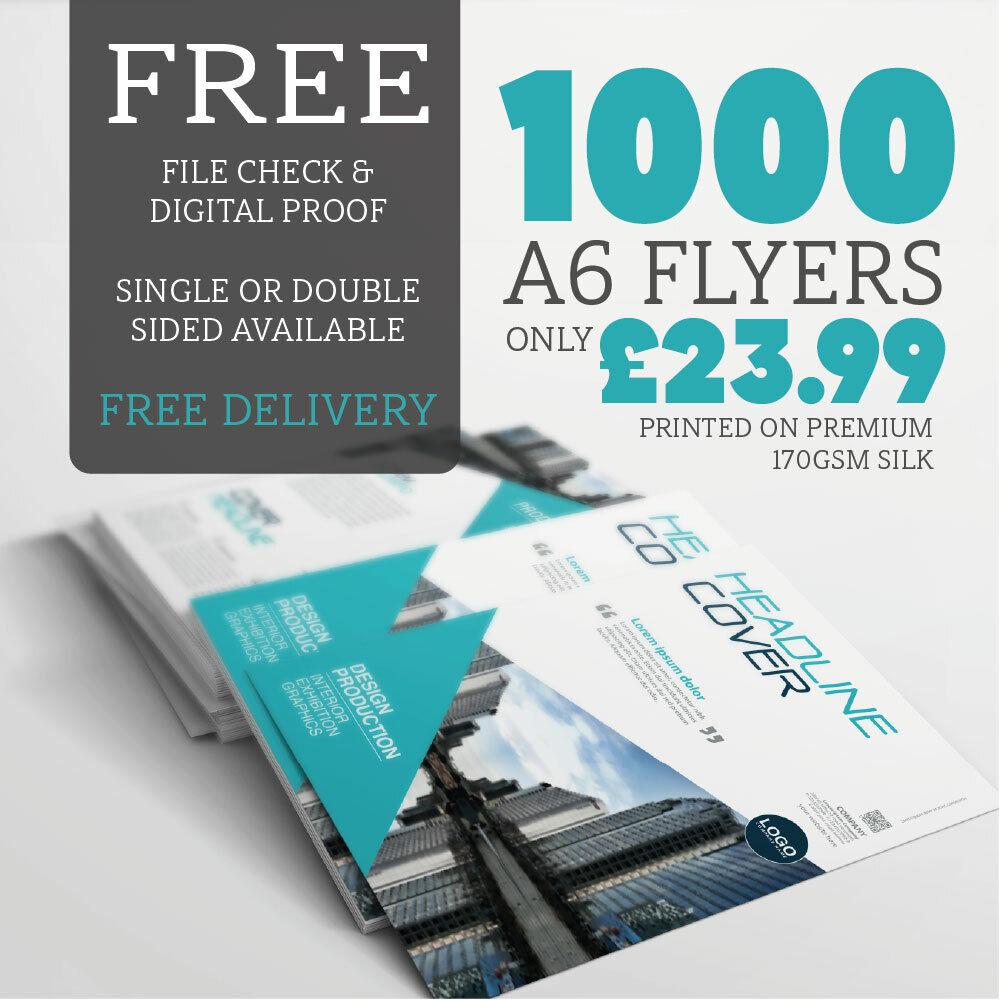 A6 Leaflets Flyers 50000 Print Double