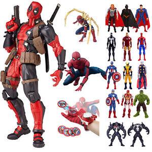 Marvel-Avengers-Superhero-Spider-Man-Thor-Hulk-Wolverine-Action-Figures-Toy-Doll