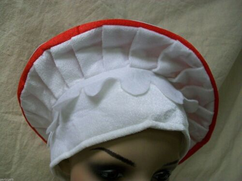 Red White Mushroom Hat Super Mario Toad Wonka Magic Wonderland Toadstool Cartoon