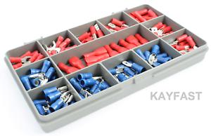 crimp connectors Spade Kit 140 X Terminales De Alambre con aislamiento eléctrico Surtidos
